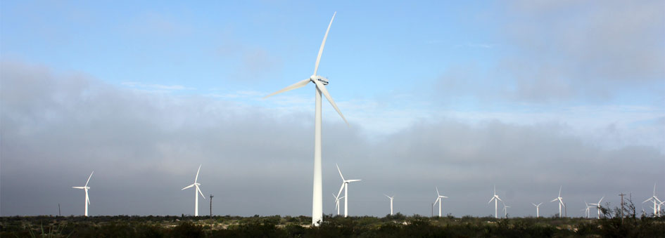 Picture of wind turbines West Texas