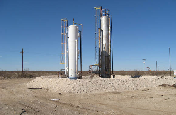 Image of Separators with caliche burm